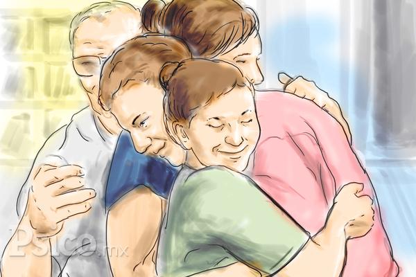 Los beneficios de un abrazo